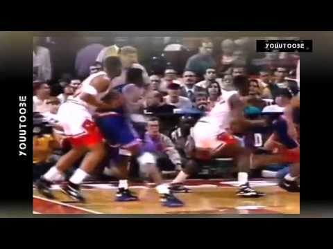NBA Fights ● Patrick EWING vs Stacey KING