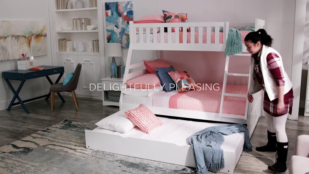 White Bunk Bed Kit Twin over Full by iNSPIRE Q Junior