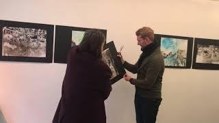 Жан-Пьер Лео на выставке «400 ударов» Светланы Ивановой