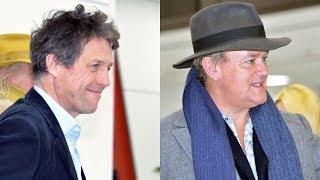 Hugh Grant & Hugh Bonneville (Paddington 2) Meets Japanese Fans! ヒュー・グラント&ヒュー・ボネヴィル、成田空港到着