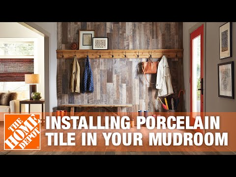 Mudroom Ideas: How to Install Porcelain Tile Flooring | The Home Depot