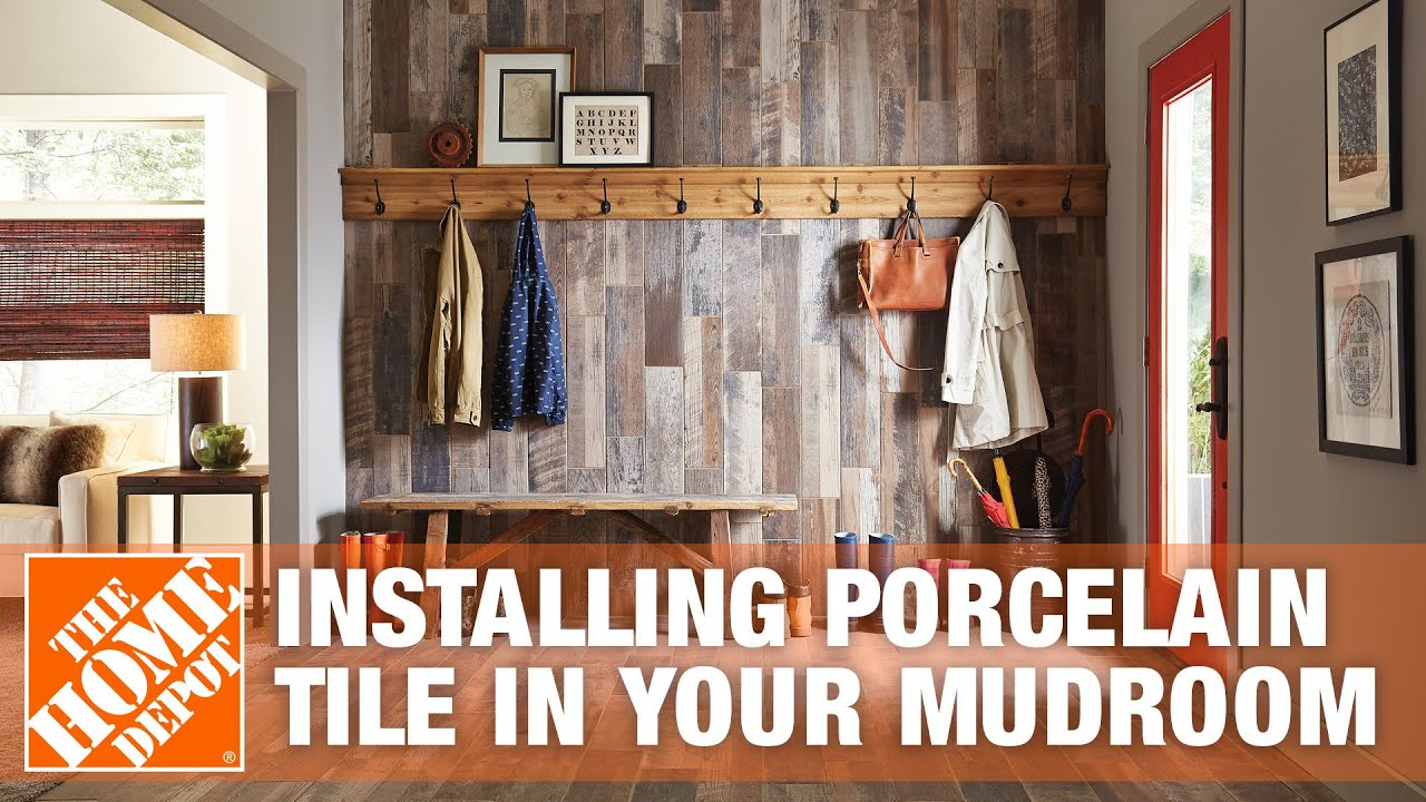 Mudroom Ideas How To Install Porcelain Tile Flooring
