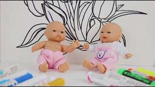 Привет Свинка Машенька и Кира Рисуем Цветы для детей