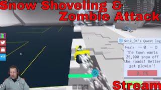 Skovler sne og Zombie Attack - Roblox - STREAM
