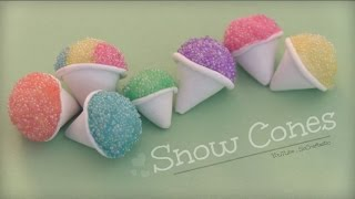 Snow Cone - Polymer Clay Charm - How To - Summer Crafts Thumbnail