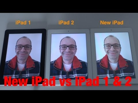 New Apple iPad vs iPad 2 vs iPad 1 Comparison