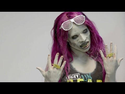 See how Sasha Banks transformed into a WWE Zombie