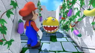 Pacman 3D Cartoons Part 8 💞 Wreck it Ralph 2 vs Pacman vs Super Mario vs Angry Birds vs Baldi Basic