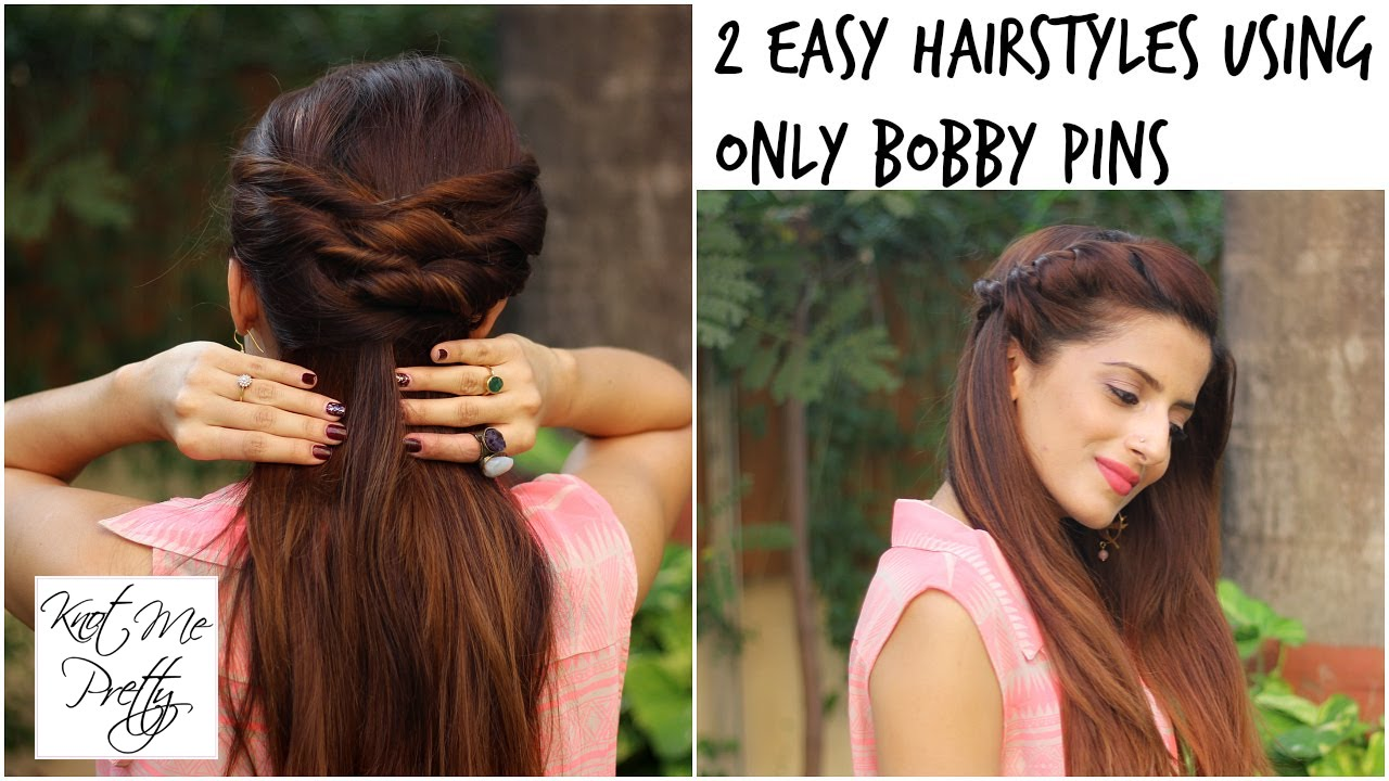 2 Quick And Easy Twist Hairstyles For School College Work Indian Medium Long Hair