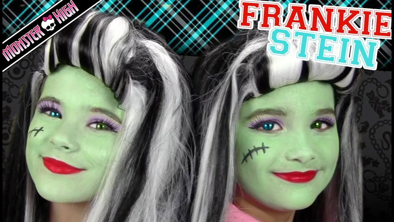 Frankie stein monster high costume makeup tutorial for halloween frankie stein monster high costume makeup tutorial for halloween kittiesmama bratayley youtube baditri Gallery