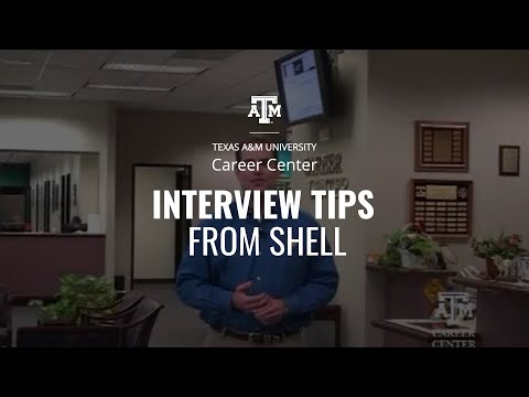 Interviewing Tips from Shell