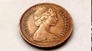 Rare 1981 UK Coin Value 2 New Pence Queen Elizabeth ll Centavo Coins Numismatic Рідкісні монети