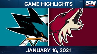 NHL Game Highlights | Sharks vs. Coyotes - Jan. 16, 2021