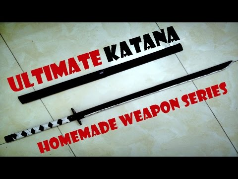 How to make ultimate paper katana sword - Handmade toys tutorial