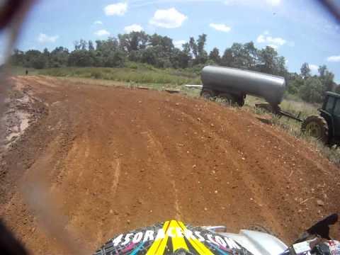 Justin Miller #724 Ruckersville Powerfest ATV Open C race YZF450 GoPro