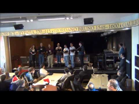 Voices of Reason, atheist choir, sings imagine by John Lennon at atheists united solstice party