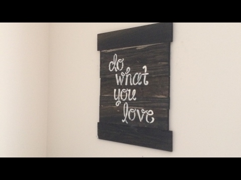 How to make DIY Pallet Wood Wall Art/Sign/Decor