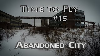 Abandoned places - ghost city like Silent Hill 4k. Aerial Phantom 4 & GoPro 4 + Feiyu g4s