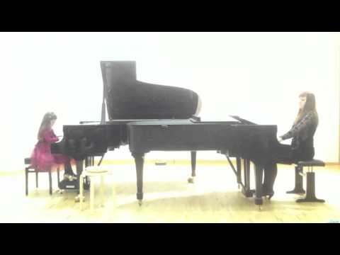 Klara Khomskii and Kristina Sandulova, Berkovich piano concerto, 2nd movement
