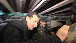 Башар Аль-Асад посетил военнослужащих Сирийской армии в Джобаре.
