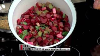 Rhubarb Mint Salsa - With Pork Steaks - Easy Real Whole Food Fast - Cfjc Midday - Made With Love