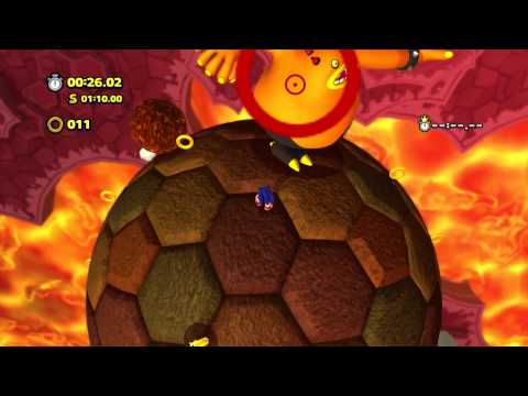 Sonic Lost World - Wii U - Lava Mountain Zone 1
