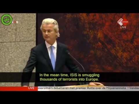 Geert Wilders Parliamentary debate on Refugee crisis in Europe [MIRROR]