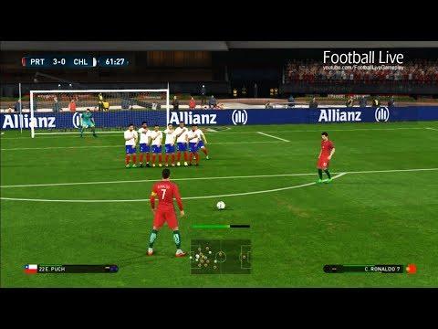 Download PES 2017   Portugal vs Chile   C.Ronaldo Free Kick Goal & Poker & Full Match Images