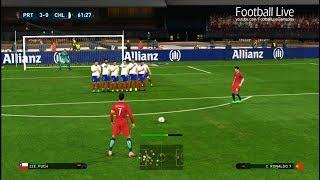 PES 2017 | Portugal vs Chile | C.Ronaldo Free Kick Goal & Poker & Full Match