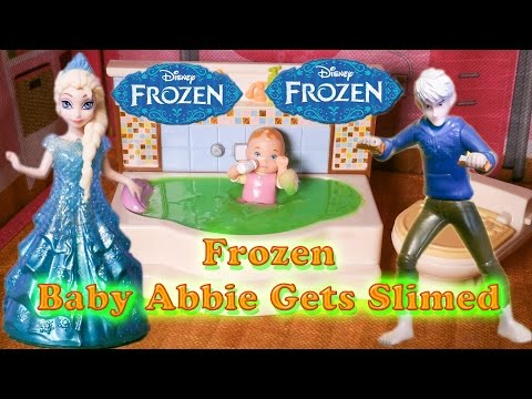 FROZEN Disney Elsa and Jack Frost Slime Baby Abbie a Disney Frozen Video Movie Parody