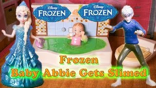 FROZEN Disney Elsa and Jack Frost Slime Baby Abbie a Disney Frozen Video Movie Parody