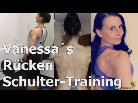 RÜCKEN-SCHULTER-Training im Gym FEMALE FITNESS veganmuscle veganisation.de