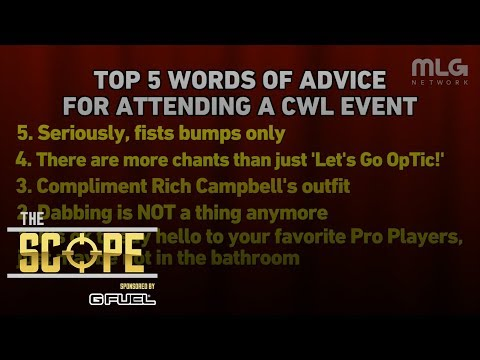Top 5 words of advice for attending a CWL event. | The Scope Powered by G FUEL.