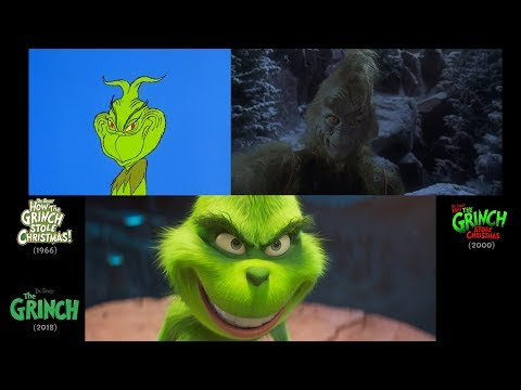 The Grinch (2018/2000/1966): side-by-side comparison