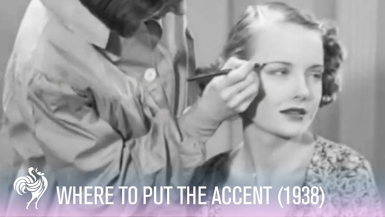 Hollywood Eyebrows Makeup Tutorial from 1938 - YouTube