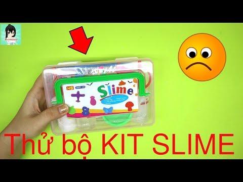 """Chơi thử hộp KIT làm Slime + tạo hình Slime """"Thất bại hay thành công??"""" / Ami Channel"""