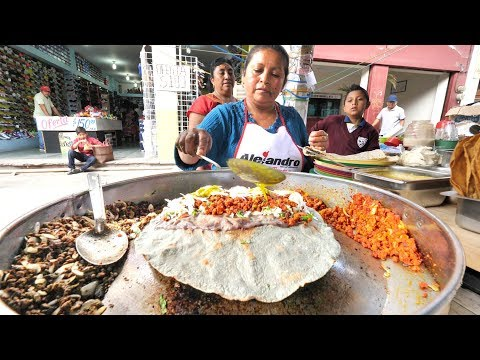 MIND-BLOWING Street Food in Oaxaca,  Mexico | HUGE TOUR of the BEST Mexican Street Food in Oaxaca!