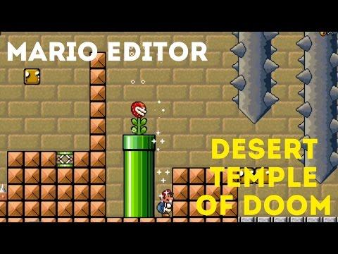 Mario editor level: Desert Temple of Doom