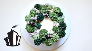 How to Pipe Buttercream Succulents  Cake Decorating