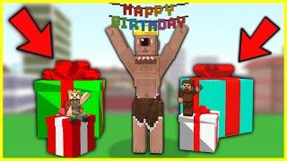 TEPEGÖZÜN DOĞUM GÜNÜ HERKES KOCAMAN HEDİYE ALDI! 😱 - Minecraft