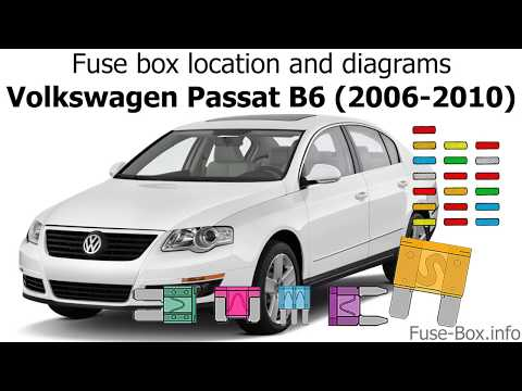 fuse box location and diagrams: volkswagen passat b6 (2006-2010) - youtube  youtube