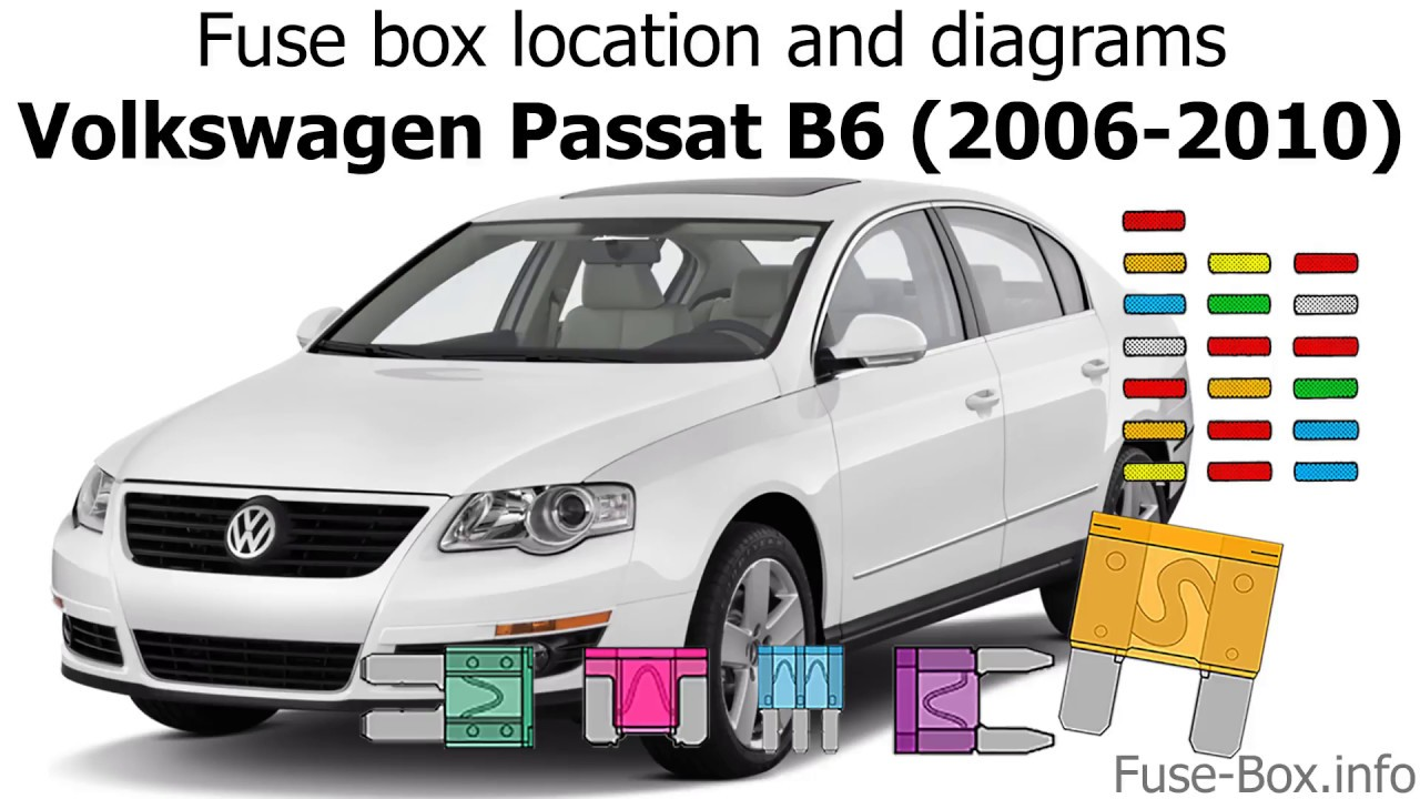 [DIAGRAM_38ZD]  Fuse box location and diagrams: Volkswagen Passat B6 (2006-2010) - YouTube | Vw 2 0t Engine Diagram |  | YouTube