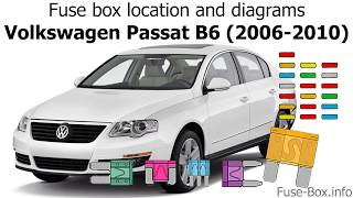 Fuse box location and diagrams: Volkswagen Passat B6 (2006-2010) - YouTubeYouTube