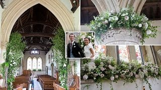 Photos reveal the breathtaking displays of peonies, roses in church where Pippa, James tied the knot