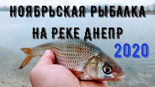 Рыбалка в ноябре на реке Днепр Хороший клёв