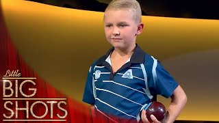 Jett Takes On The Pros In Lawn Bowls | Little Big Shots