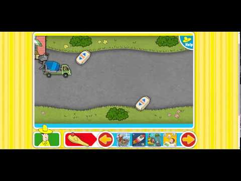 curious george games -  truck it
