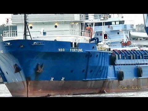 NSO FORTUNE ZDJR3 IMO 8119649 Emden cargo seaship merchant vessel Seeschiff