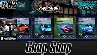 Need For Speed No Limits: Tuning | Chop Shop | Earning Blueprints & Parts For Cars [Tutorial #02]