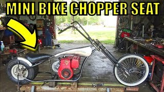 Rat Pit Mini Bike Junior Chopper Custom Seat